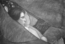 sleeping woman by John Buckland Wright