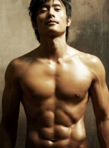 torso shot of actor Lee Byun Hun